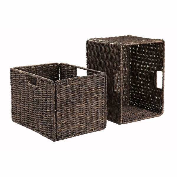 Winsome Granville Foldable 2-Piece Tall Baskets Corn Husk 38233