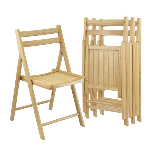 Winsome Robin 4-Piece Folding Chair Set - Natural 89430