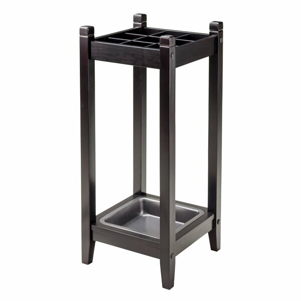 Winsome Jana Umbrella Stand With Metal Tray - Espresso 92411