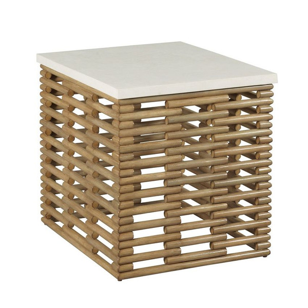 Hammary Rattan Rect End Table 090-1013