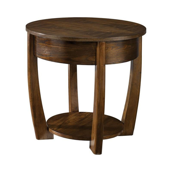 Hammary Hammary Furniture Concierge Brown Round End Table T30018-T3001835-00
