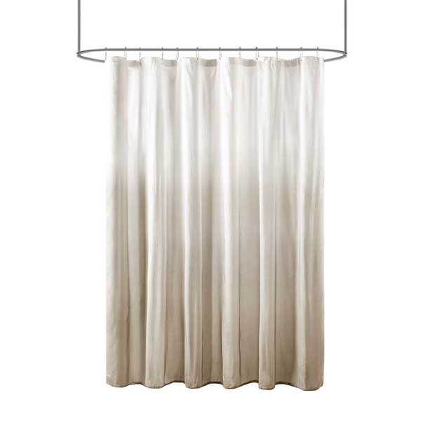Ara Ombre Printed Seersucker Shower Curtain By Madison Park MP70-7541