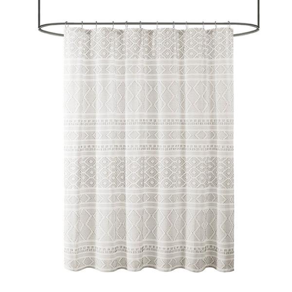 Lizbeth Cotton Clip Jacquard Shower Curtain By Urban Habitat UH70-2383