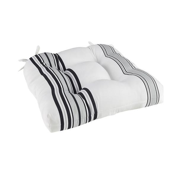 Newport Printed Stripe 3M Scotchgard Outdoor Seat Cushion By Madison Park MP31-7465