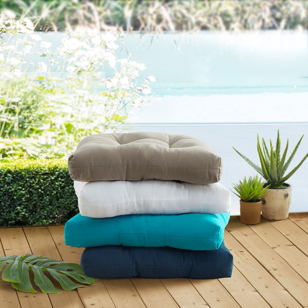 Pacifica Solid 3M Scotchgard Outdoor Seat Cushion By Madison Park MP31-7469
