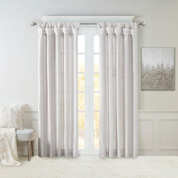 Madison Park Emilia Twist Tab Lined Window Curtain Mp40-6329 MP40-6329 By Olliix