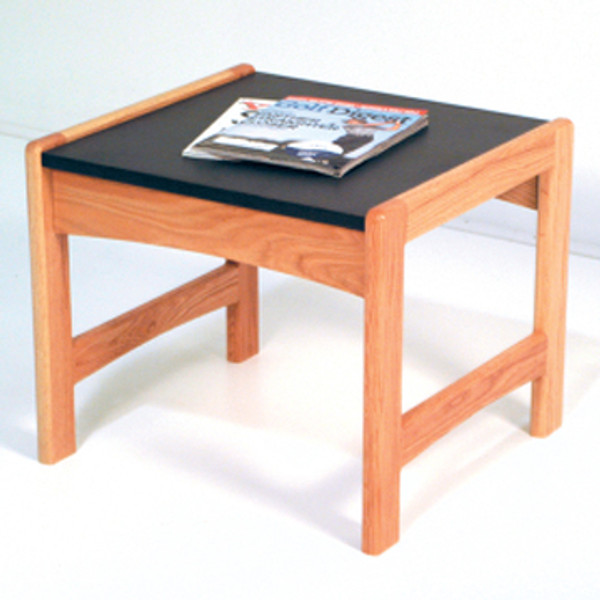 End Table, Black Granite-Look Top, Light Oak DT1-BGLO By Wooden Mallet