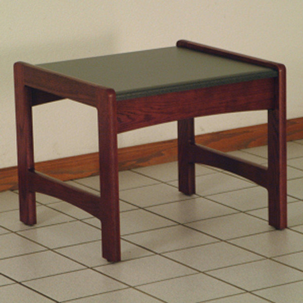 End Table, Black Granite-Look Top, Mahogany DT1-BGMH By Wooden Mallet