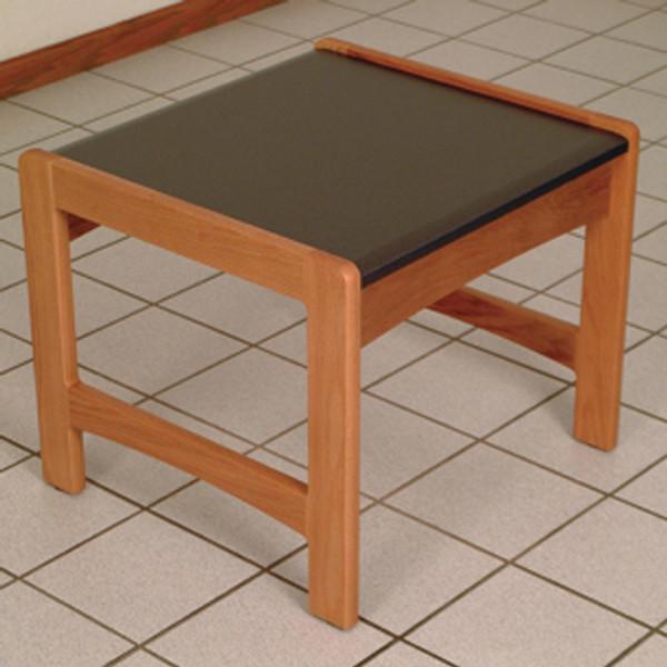 End Table, Black Granite-Look Top, Medium Oak DT1-BGMO By Wooden Mallet