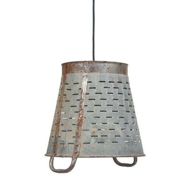 Vintage Rustic Bucket Hanging Light Pendant