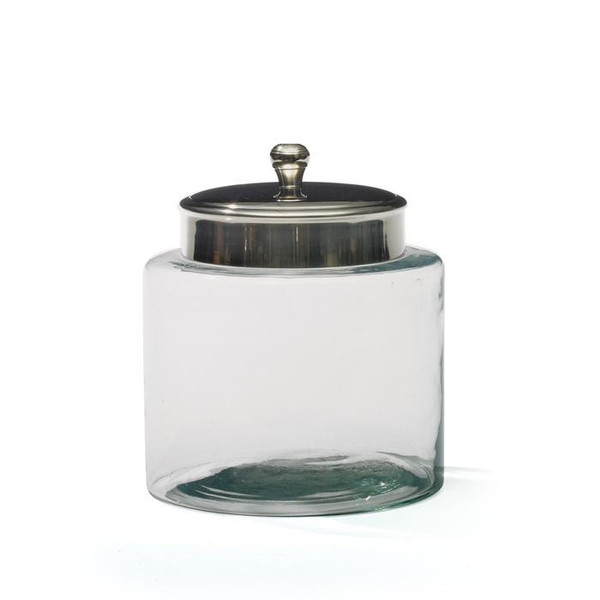 Glass And Nickel Medium Jar - (Pack of 2)