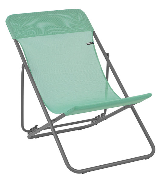 Folding Sling Chair - Set Of 2 - Basalt Steel Frame - Menthol Fabric 320617 By Homeroots