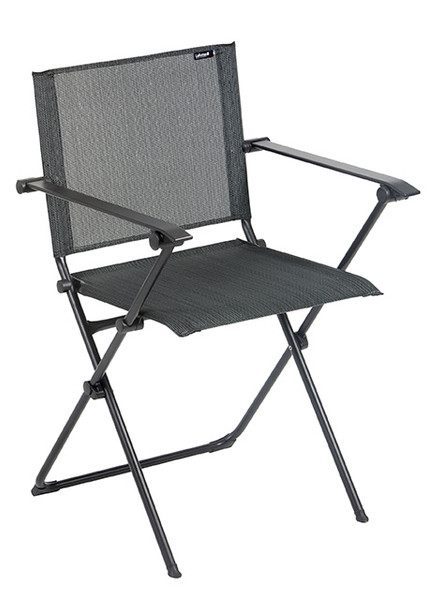 Folding Armchair - Black Steel Frame - Obsidian Duo Fabric 320635 By Homeroots