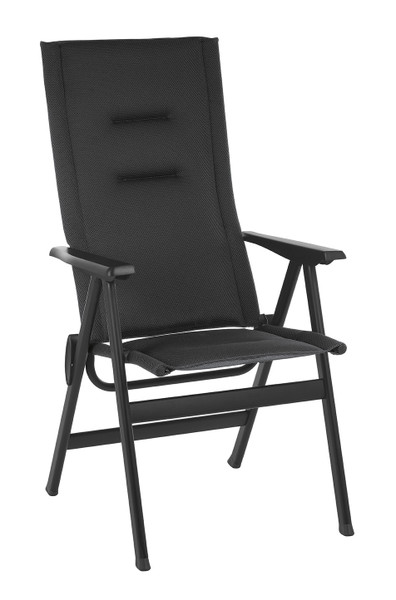 High-Back Chair - Black Steel Frame - Outremer Duo Fabric 320644 By Homeroots