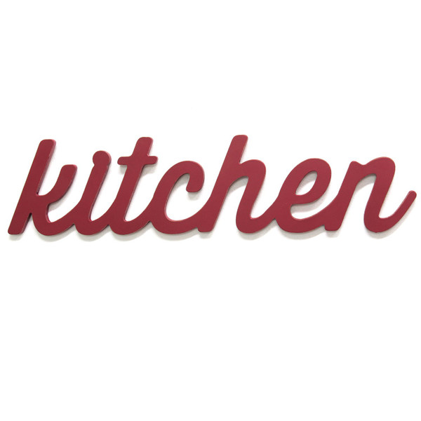 """23"""" X 0.5"""" 5.5"""" Red Kitchen Wood Word Decor 321255 By Homeroots"""