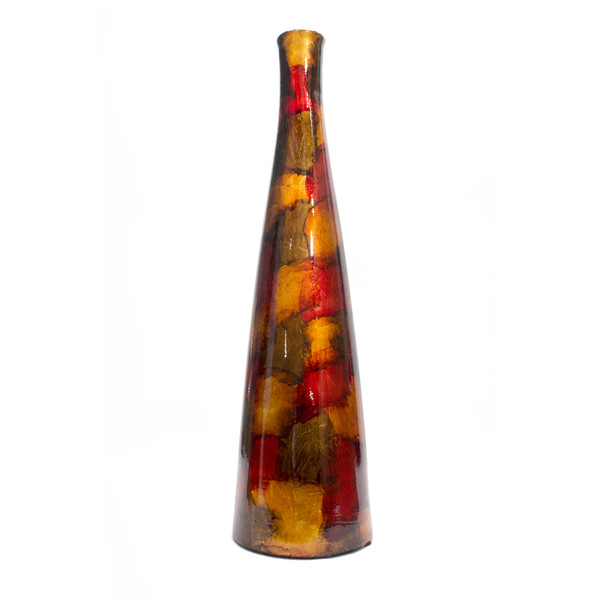 """20.2"""" Gold, Copper, And Brown Ceramic Floor Vase 328601 By Homeroots"""