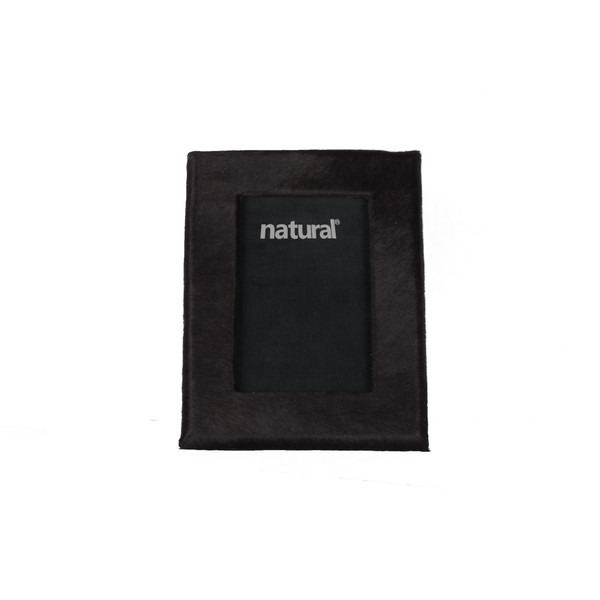 """7"""" X 9"""" Black, Cowhide - 4"""" X 6"""" Picture Frame 332310 By Homeroots"""