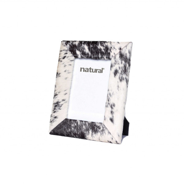 """7"""" X 9"""" Black/White, Cowhide - 4"""" X 6"""" Picture Frame 332311 By Homeroots"""