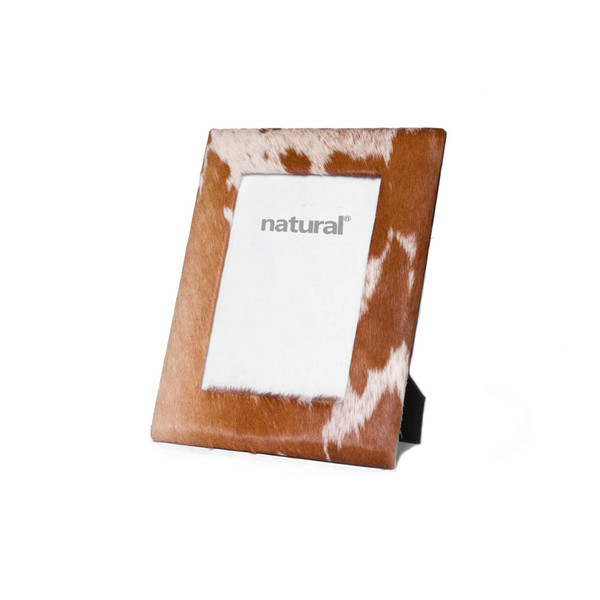 """7"""" X 9"""" Brown/White, Cowhide - 4"""" X 6"""" Picture Frame 332312 By Homeroots"""