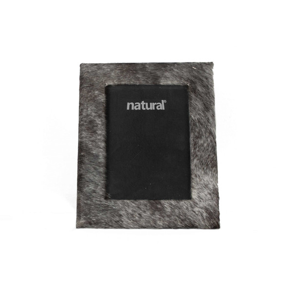 """8"""" X 10"""" Grey, Cowhide - 5"""" X 7"""" Picture Frame 332318 By Homeroots"""