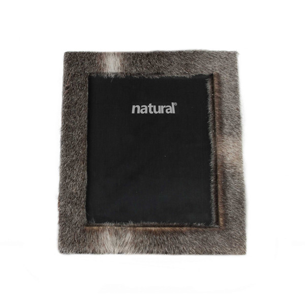 """11"""" X 13"""" Grey, Cowhide - 8"""" X 10"""" Picture Frame 332323 By Homeroots"""