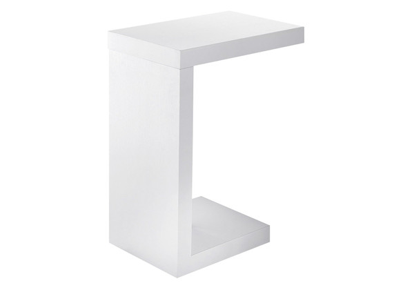 """11.5"""" X 18"""" X 24"""" White, Hollow-Core, Particle Board - Accent Table 332845 By Homeroots"""