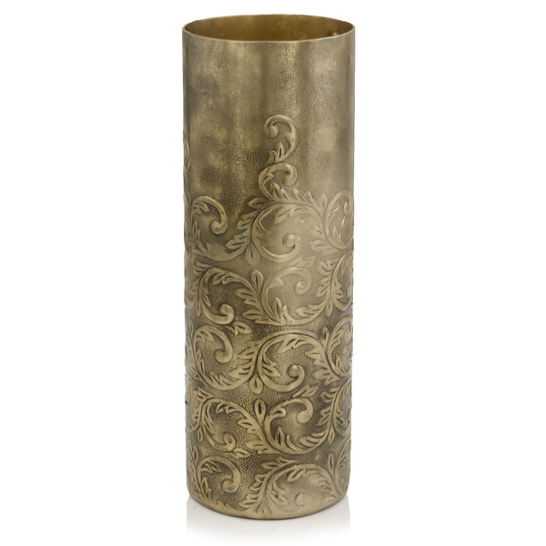 """5"""" X 5"""" X 15"""" Gold/Large - Cylinder Vase 354830 By Homeroots"""