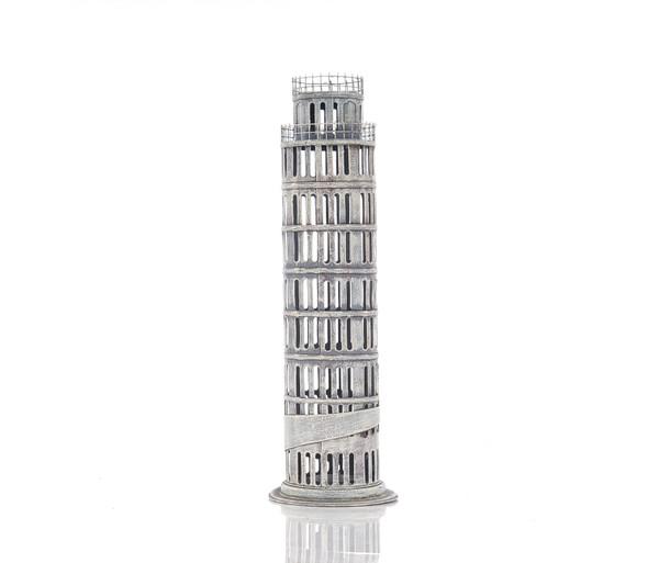 "4"" X 4"" X 12.5"" Pisa Tower Saving Box 364176 By Homeroots"