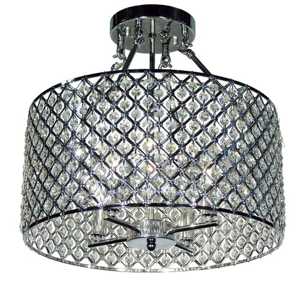 Kirsten Crystal Semi-Flush Mount 320340 By Homeroots