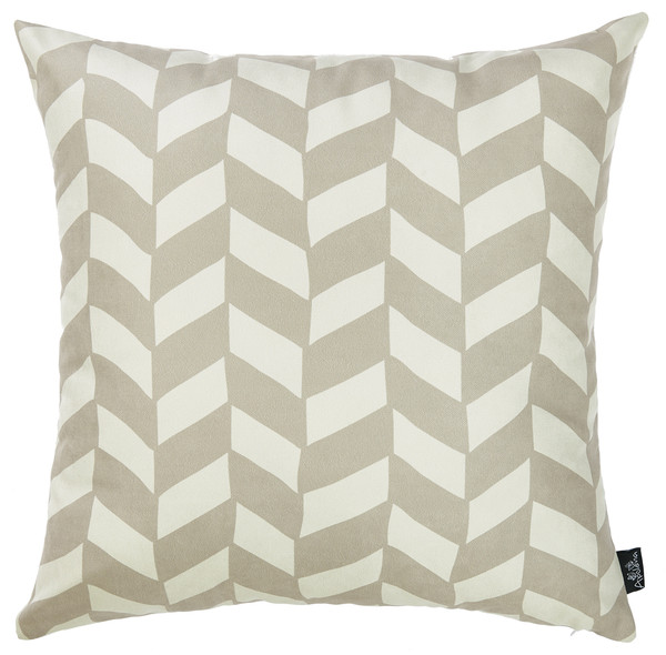 """18""""X18""""Gray Olive Towers Decorative Throw Pillow Cover Printed 355316 By Homeroots"""