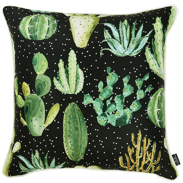 """18""""X 18"""" Printed Cactus Madness Decorative Throw Pillow Cover 355239 By Homeroots"""