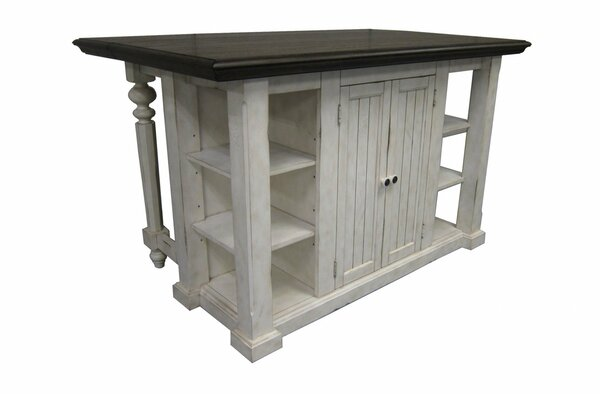 "60"" X 38"" X 36"" Vintage Estates Veneer Solid Wood Kitchen Island 356233 By Homeroots"