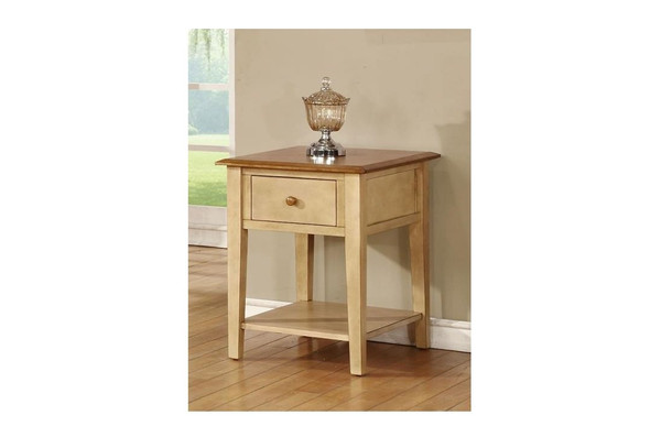 """20"""" X 24"""" X 26"""" Two Tone Hardwood End Table 356166 By Homeroots"""