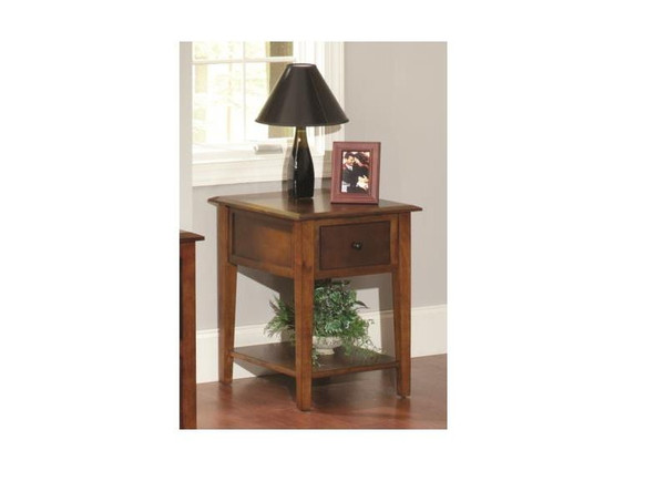 """20"""" X 24"""" X 26"""" Tobacco Hardwood End Table 356210 By Homeroots"""