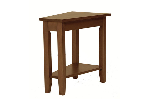 """24"""" X 16"""" X 24"""" Burnished Walnut Hardwood Angled End Table 356115 By Homeroots"""