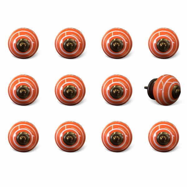 """1.5"""" X 1.5"""" X 1.5"""" Ceramic/Metal Multicolor 12 Pack Knob 358104 By Homeroots"""