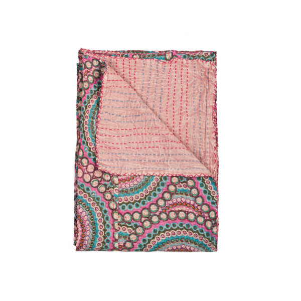 """50"""" X 70"""" Multi-Colored Eclectic, Bohemian, Traditional - Throw Blankets 357555 By Homeroots"""