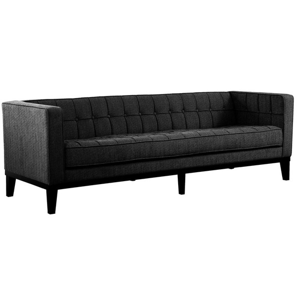 Armen Living Roxbury Sofa In Charcoal Fabric - LC10103CH
