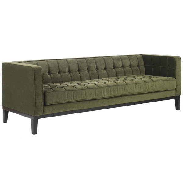 Armen Living Roxbury Sofa In Tufted Green Fabric - LC10103GR