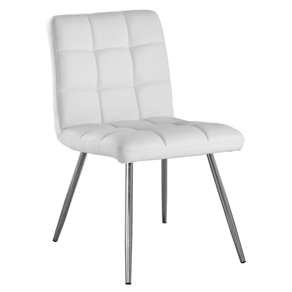 """47"""" X 37"""" X 63"""" White, Foam, Metal, Polyurethane, Leather-Look - Dining Chairs 2Pcs 332598 By Homeroots"""