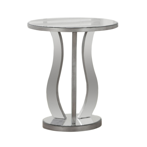 """20"""" X 20"""" X 24"""" Silver - End Table With A Mirror Top 333268 By Homeroots"""