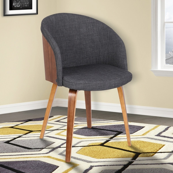 """Armen Living Alpine Mid-Century Dining Chair LCALCHWACH """"Special"""""""