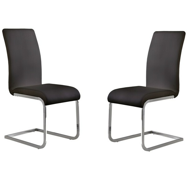 "Armen Living Amanda Black Side Chair (Set Of 2) LCAMSIBL ""Special"""