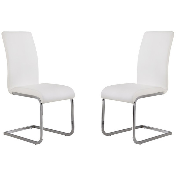"Armen Living Amanda White Side Chair (Set Of 2) LCAMSIWH ""Special"""