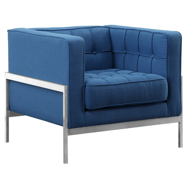 "Armen Living Andre Contemporary Sofa Chair LCAN1BLUE ""Special"""