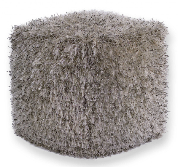 """18"""" X 18"""" X 18"""" Polyester Champagne Pouf 352346 By Homeroots"""