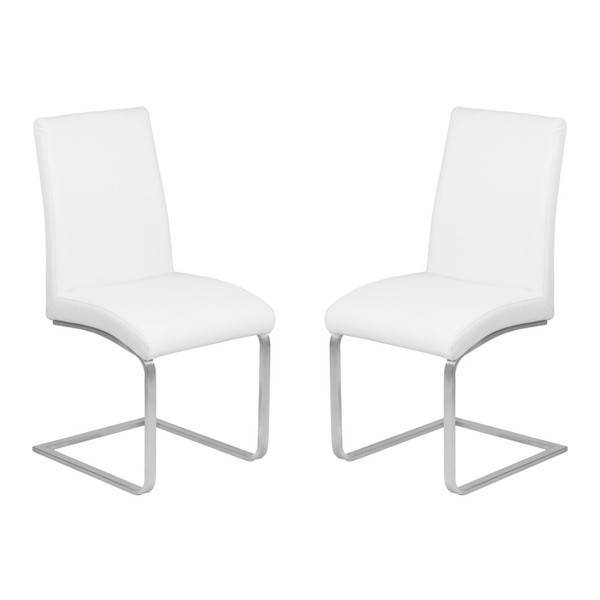 "Armen Living Blanca Contemporary Dining Chair - Set Of 2 LCBLSIWHBS ""Special"""