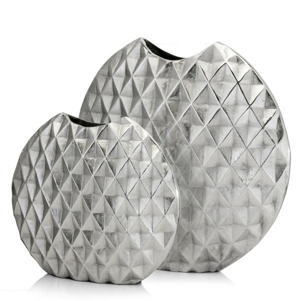"2.5"" X 14"" X 13"" Rough Silver, Medium, Harlequin - Vase 354814 By Homeroots"