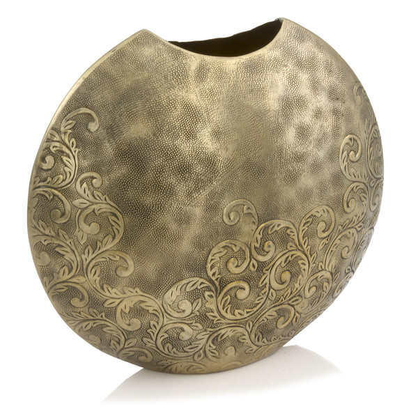 """5"""" X 15"""" X 13.5"""" Gold/Small - Round Vase 354826 By Homeroots"""