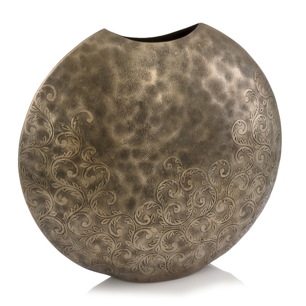 """6"""" X 19"""" X 17.5"""" Copper, Hammered, Large, Round - Vase 354827 By Homeroots"""